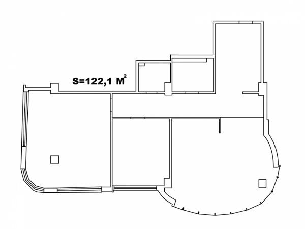Планировки двухкомнатных квартир 122.1 м^2